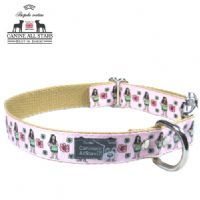 DOG COLLAR - HULA GIRLS PINK